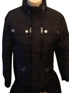 Burberry Cashmere Wool Quilted Ski Heavy Coat