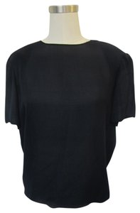 Pamela Dennis Top Navy Blue