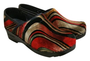 Sanita red multi Mules