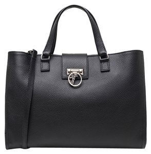 Versace Leather Sale Tote in Black