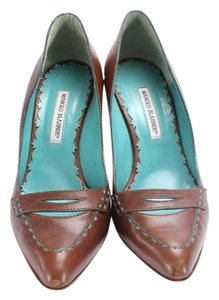 Manolo Blahnik Leather Casual Exclusive Brown Pumps