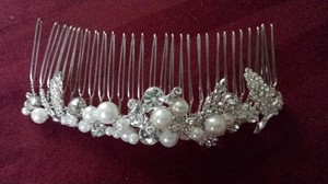 David's Bridal Embellished Crystal And Pearl Comb