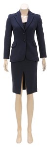 Moschino Cheap & Chic Moschino Navy Blue Skirt Suit (Size 4)