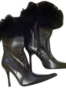 Les Copains Black/with real fox fur Boots