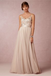 BHLDN Antique Rose Lucca Maxi Formal Wedding Dress Size 8 (M)
