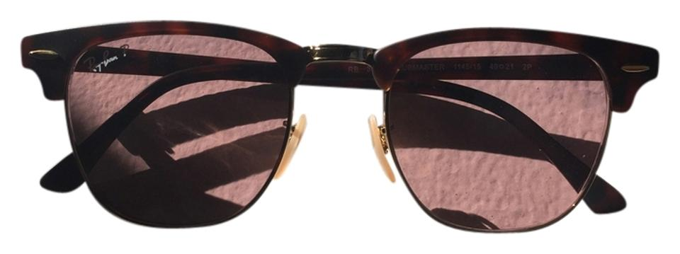 b42799b694 Ray-Ban Tortoise Shell W  Rose Colored Lens Rb3016 Clubmaster 49mm  Sunglasses