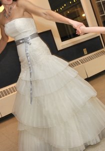 Vera Wang Satin Faced Organza Fit And Flare Wedding Dress