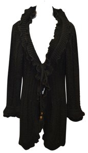Rene Derhy Knit Cardigan Ruffled Wool Coat
