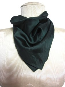 Other Dark Forest Green Soft Silk Blend Handkerchief/Scarf