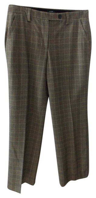 J.Crew Straight Pants Brown square pattern