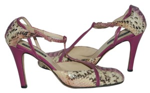 Claudia Ciuti Leather purple Pumps
