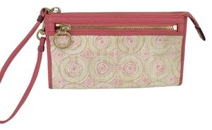 Coach AUDREY WRISTLET WALLET LARGE HOLDS PHONE CASE PEACH