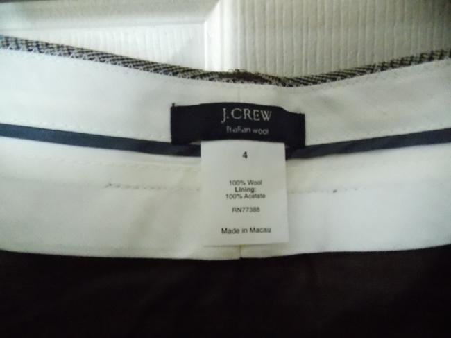 J.Crew Straight Pants Grey square pattern