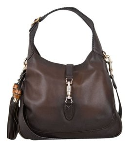 Gucci Leather Exterior Hobo Bag