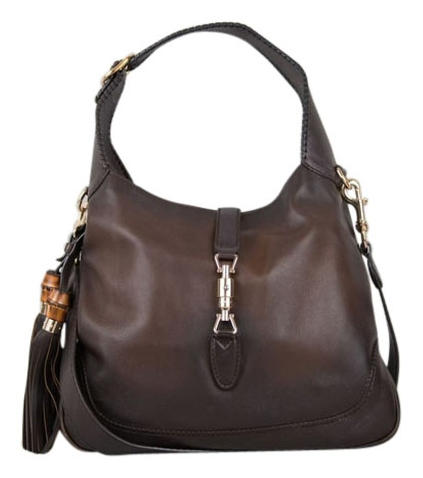 Gucci Leather Exterior Gold Hardware Hobo Bag