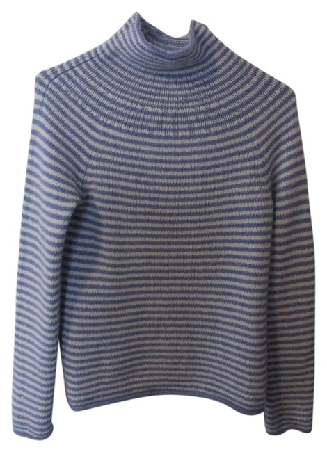 Preload https://item2.tradesy.com/images/jcrew-blue-and-white-stripes-sweaterpullover-size-8-m-760026-0-0.jpg?width=400&height=650