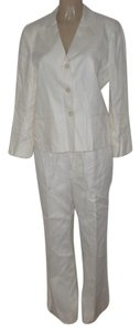 Lauren Ralph Lauren Pre Owned Lauren Ralph Lauren Fully Lined 100% Linen Off White Pants Suit Size 10/12