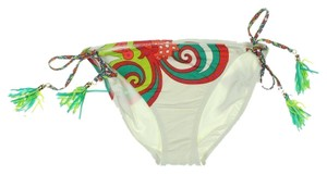 Trina Turk TRINA TURK CARNIVAL WHITE SIDE TIE STRING BIKINI BOTTOM 2
