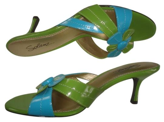 Solanz Blue/Green Sandals