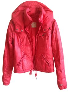 Hollister Winter Fall Bright Down Feather Warm Silver Hardware Coat