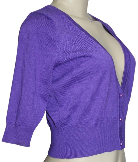 Preload https://item5.tradesy.com/images/one-world-purple-sleeve-short-cardigan-sweater-button-down-top-size-8-m-760169-0-0.jpg?width=400&height=650