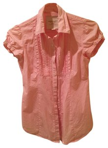 American Eagle Outfitters Button Down Shirt Pink stripes