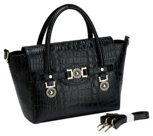 Ridgell Leather Tote in Black