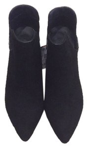 Zara Pointed Toe Suede Black Boots
