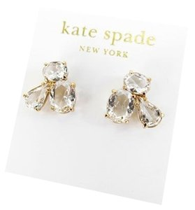 Kate Spade Kate Spade New York Clear 14K Gold Fill Cluster Stud Earrings NEW NWT!