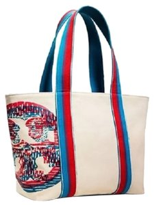 Tory Burch Beach Tote Squiggle Logo Small Beach Tote Tory Logo Tote Tory Tote Small Tote Tory Tote Small Beach Tote Tory Shoes Beach Bag