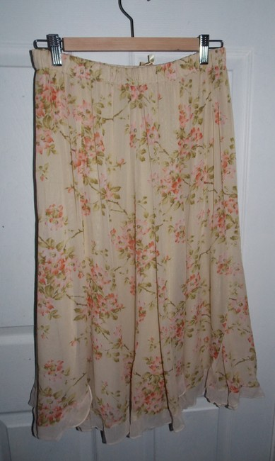 April Cornell Skirt Beige with flowers