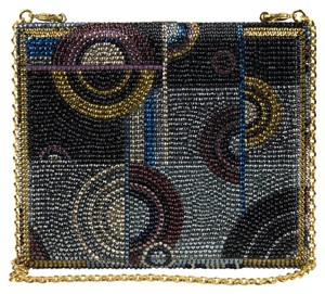 Judith Leiber Handmade Beaded Removable Chain Strap Multi Clutch