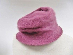 Womens Kates Canada Pink Angora Fur Brim Winter Hat