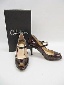 Cole Haan Nike Air Carma Tortoise Patent Leather Heels 7b Brown Pumps