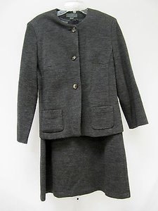 Country Road Womens Country Road Gray Wool Pc Sheath Dress And Jacket Suit