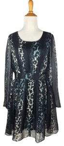 Line & Dot short dress Leopard print #anthropologiedress #leopardprintdress #silkdress on Tradesy
