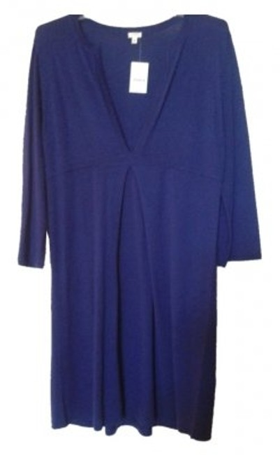 Preload https://item1.tradesy.com/images/jcrew-deep-blue-purple-sweater-mini-workoffice-dress-size-12-l-7605-0-0.jpg?width=400&height=650