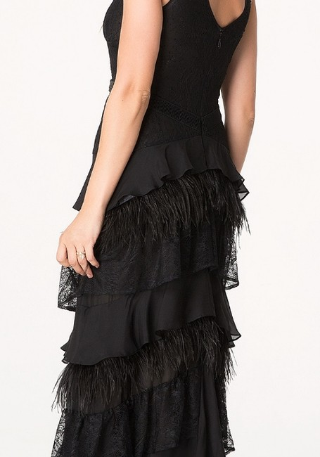 bebe Chiffon Evening Layered Dress