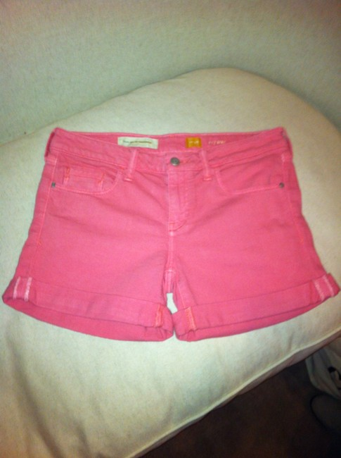 Anthropologie Cuffed Shorts Pink