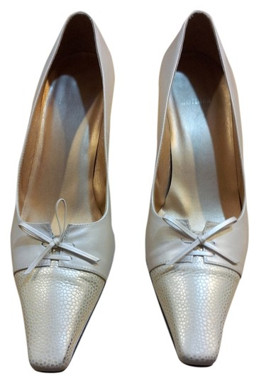 Stuart Weitzman Formal Corporate Leather Champagne Pumps