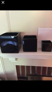 Square Black Vases