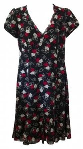 Ann Taylor LOFT short dress black red cream on Tradesy