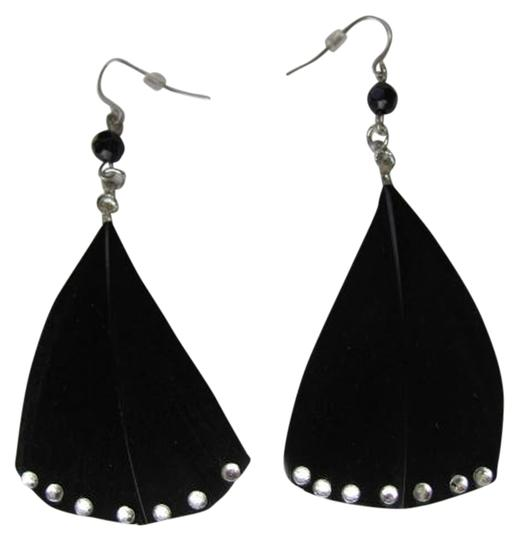 Preload https://img-static.tradesy.com/item/760767/black-silver-new-feathers-earrings-0-0-540-540.jpg