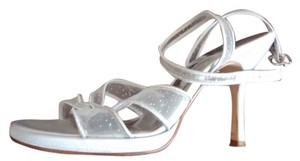 Nina Holiday Anklestrap silver with some shimmer Sandals