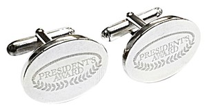 Tiffany & Co. Tiffany & Co Classic Oval Cuff Links With Special Signature in sterling silver.