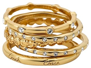 Coach Elegant Mix And Match 5 Ring Set Size 7 $74