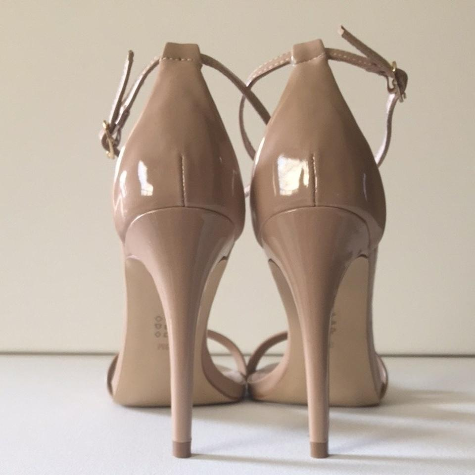 5d7c82fc566 Steve Madden Nude Stecy Stacy Sexy In Patent Leather M Sandals Size US 7  Regular (M