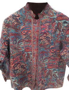 Paisley Reversible Red red, blue and beige paisley/red Blazer