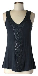 Cynthia Rowley Embellished Top Navy