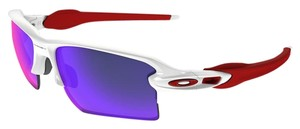 Red Lens Oakley OO9188-21 Flak White/Red Lens Sunglasses